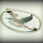 HERON BROOCH HJ270BR 3.7CM 50.80