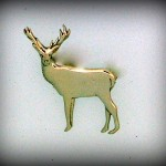 STAG BROOCH HJ271BR 3.5cm 31.20