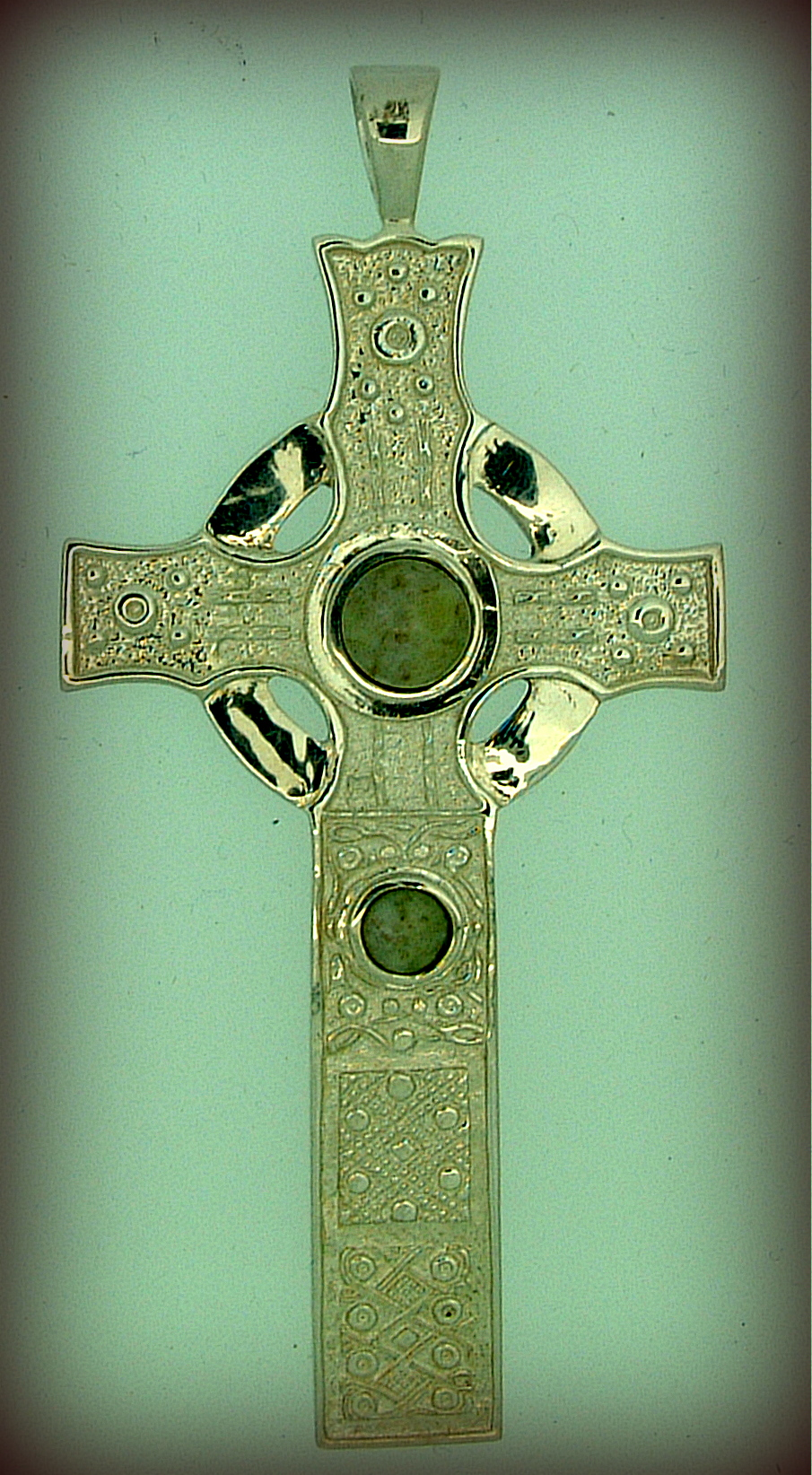 St Johns Cross Set With Green Iona Marble Isle Of Mull