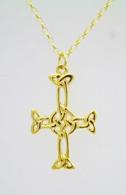 Gold Open Columba Cross