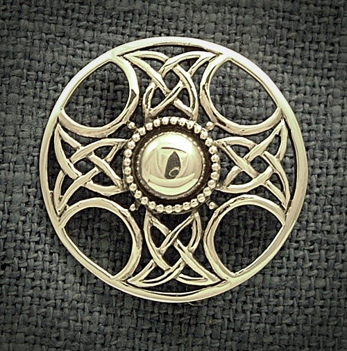 CELTIC SILVER BROOCH
