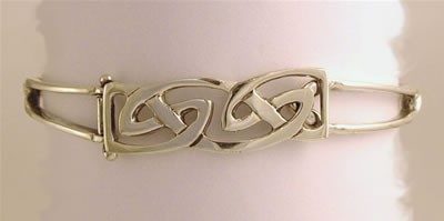 Silver Hebridean Hinged Bracelet