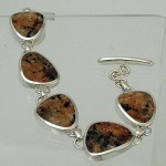 Ros of Mull granite silver bracelet