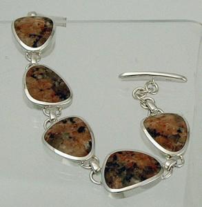 Ros of Mull granite silver bracelet