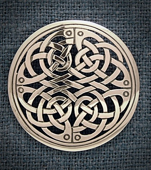 Silver Celtic Brooch Isle Of Mull Silver And Goldsmith